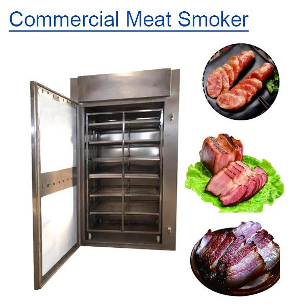 PLC System Easily Operated Commercial Meat Smoker With Cost Effective #1 image